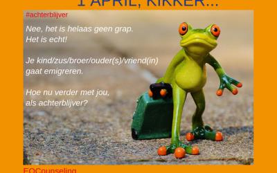 1 April, kikker in je……